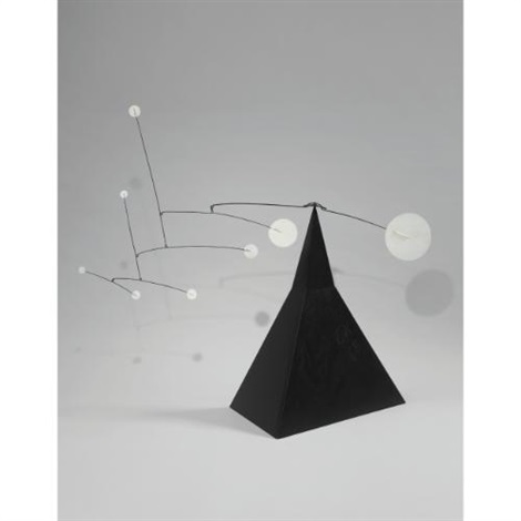 white discs on the pyramid by alexander calder