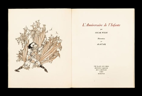 lanniversaire de linfante bk by oscar wilde w9 plates 4to by alastair hans henning baron vogt
