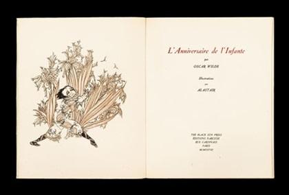 lanniversaire de linfante bk by oscar wilde w9 plates 4to by alastair hans henning baron vogt