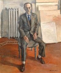 el pintor en su estudio by héctor basaldúa