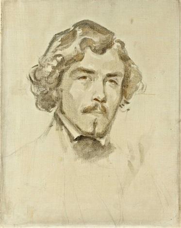 portrait de delacroix by eugène delacroix
