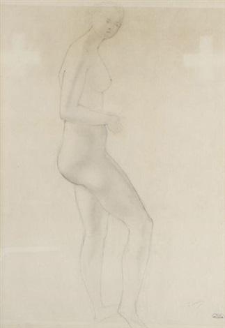 femme nue debout by andré derain