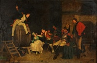 soldados en la taberna by alcide segoni