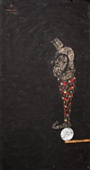 homme tenant sa tête by sabhan adam