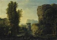 italienische landschaft by johann conrad gessner