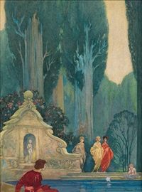 fountain by franklin booth