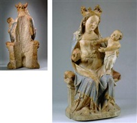 thronende madonna mit kind by austrian school (14)