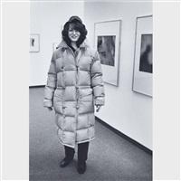 christine (at an exhibition) by andré kertész
