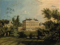 a view of howick hall, northumberland by tobias young
