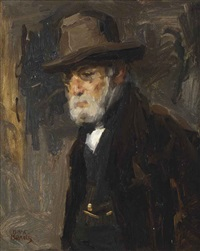 portrait of the artist's father jozef israels by isaac israels