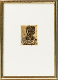 tête de femme by paul cézanne