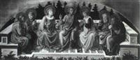 saint john the baptist with six other saints by filippo di tomaso (fra) lippi