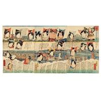 takoage seiun seriai (triptych, various sizes, oban tate-e) by yoshiharu