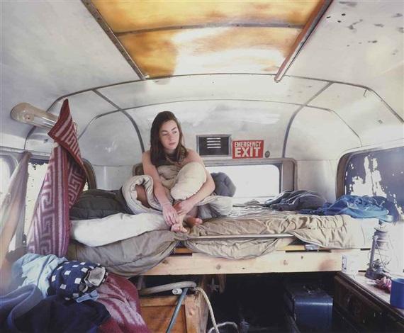 traveller series i girl in the bus by tom hunter