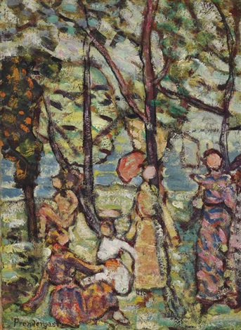 by the sea by maurice brazil prendergast