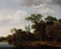 bord de rivière by cornelis hendriksz vroom
