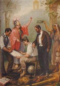 alegoria de las artes y oficios by josé agustín arrieta