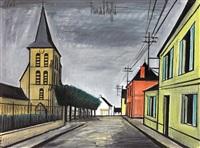 rue et église by bernard buffet