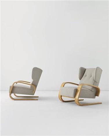 tank armchairs (pair) by alvar aalto