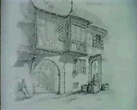 maison medievale, riquewir alsace by alfred koechlin-schwartz
