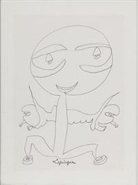 composition au personnage by charles lapicque