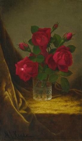 jacqueminot roses by martin johnson heade