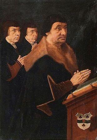 donateur et ses fils donatrice et ses filles 2 works by bartholomäus barthel bruyn the younger
