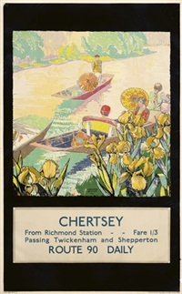 chertsey from richmond station by gregory brown