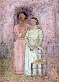 madre e hija by leonidas gambartes