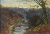 winter afternoon near hamilton, lanarkshire by james faed