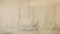 Ships at an anchorage