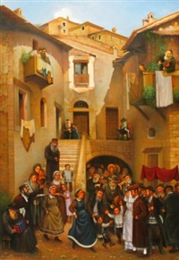 jewish wedding in old vilna by eduard gurevich