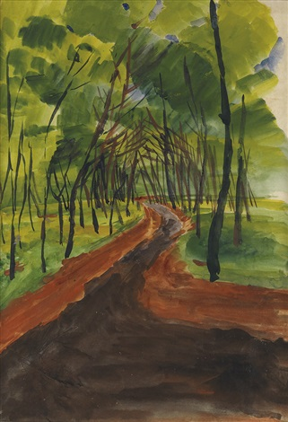 untitled wooded pathway by william henry johnson