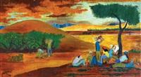 figures in the kibbutz by simon