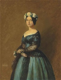 portrait of augusta, princess of prussia by franz xaver winterhalter