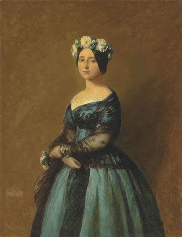 portrait of augusta princess of prussia by franz xaver winterhalter