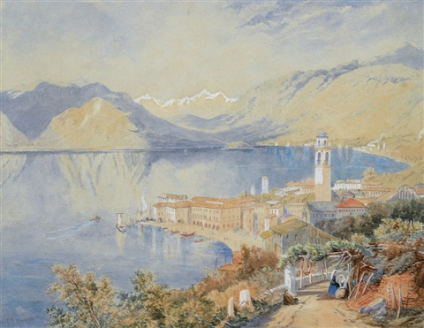 varenna lago di como by françois marius granet