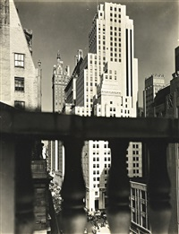 squibb building with sherry-netherland in background by berenice abbott