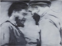 untitled (con fidel) (from serie gris) by josé ángel toirac
