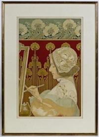 allégorie de la peinture by henri privat-livemont