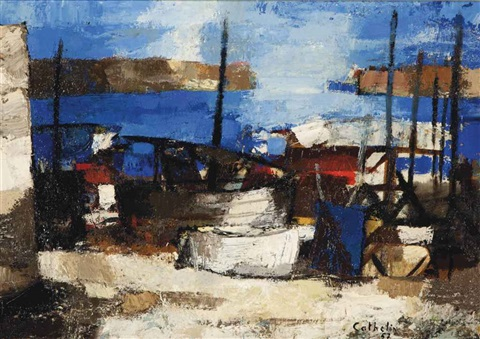 boatyard by bernard cathelin