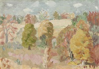 autumn landscape by william george gillies