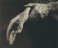 handstudien (hugo burghauser, fagottist der wiener philharmoniker) (2 works) by trude fleischmann