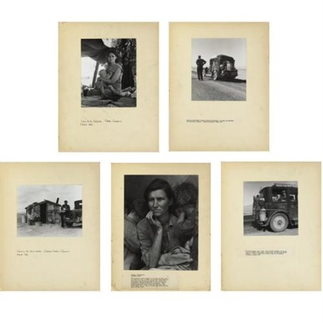 migrant farm workers in california and the west 32 works on 30 mounts 11 insc by dorothea lange