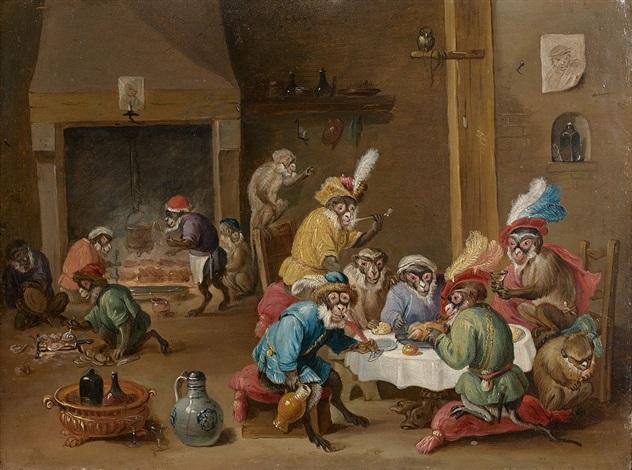 Singerie by Ferdinand van Kessel on artnet