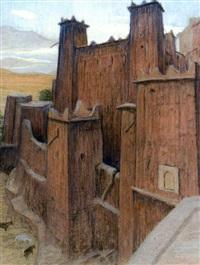casbah de aït benadou, anti-atlas by maurice rodieux