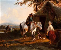 by the well by joseph jodocus moerenhout
