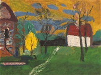 houses in landscape by werner augustiner