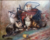 les chatons jouant by jules leroy