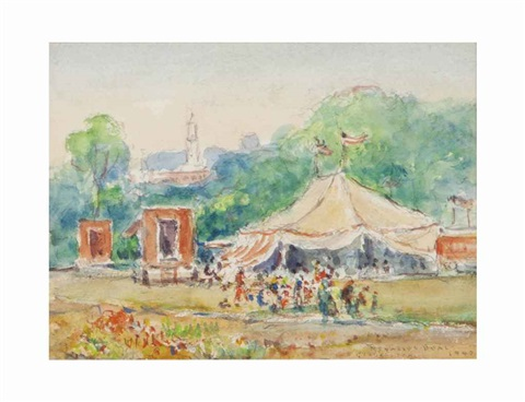 gloucester circus and companion work 2 works by reynolds beal